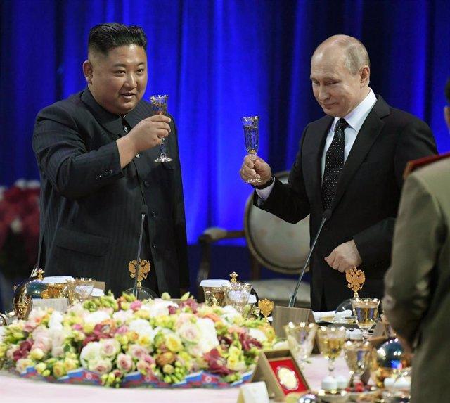 Putin receives Kim in Russia