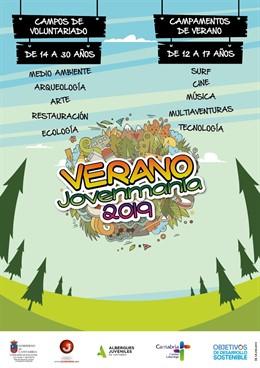 Cartel De Las Actividades De Ocio Verano Joven De La Dirección De Juventud26 Abr