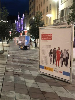 CCOO inaugura una exposición urbana sobre buenas prácticas en prevención de riesgos laborales