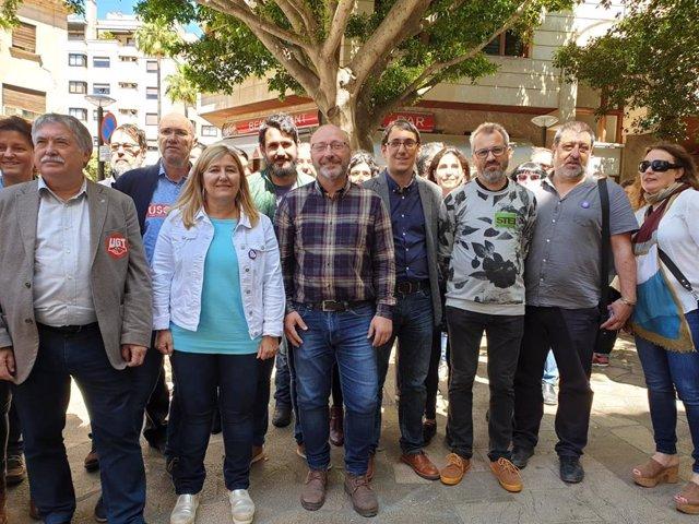 PSIB, Podemos, MÉS, EU y sindicatos rinden homenaje a las víctimas de accidentes laborales en Baleares