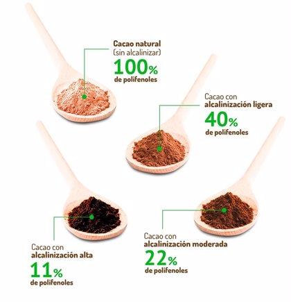 El cacao natural es el único que mantiene todas sus propiedades antioxidantes