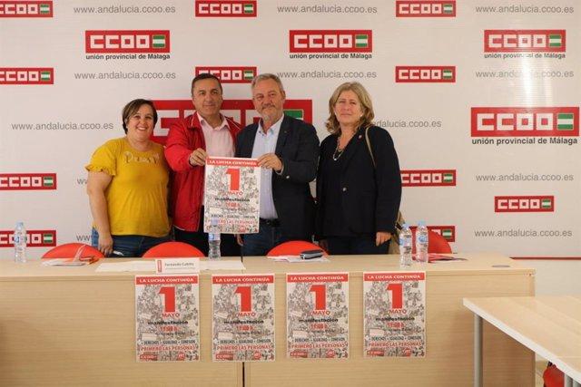 Málaga.- CCOO y UGT llaman a secundar la manifestación del 1 de mayo en Málaga por más igualdad, derechos y cohesión
