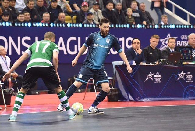 Fútbol sala/Champions.- El Sporting se cobra su revancha y derriba de su trono continental al Monvistar Inter