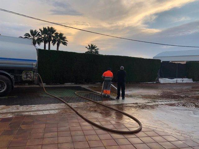 Daños por la lluvia en La Llosa
