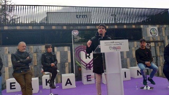 """28A.- Elkarrekin Podemos Pide El Voto Para """"Cerrar El Paso A Las Tres Derechas"""" Y A Un Pacto PSOE-Ciudadanos"""