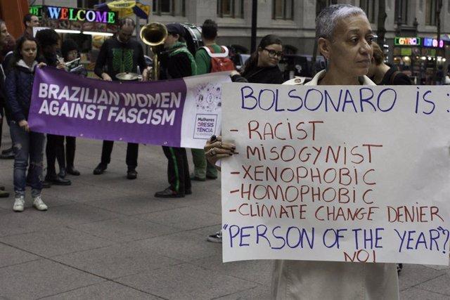 Demonstration in New York
