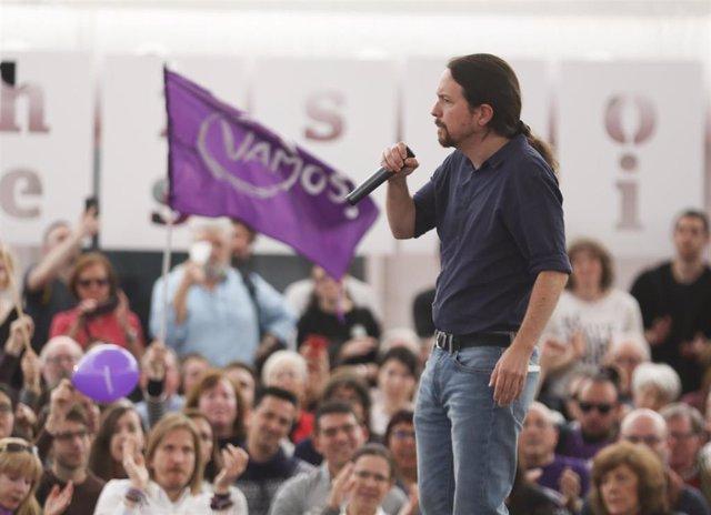 """28A.-Iglesias, convencido de que muchos votantes del PSOE hoy dicen que """"no les vuelven a engañar"""""""