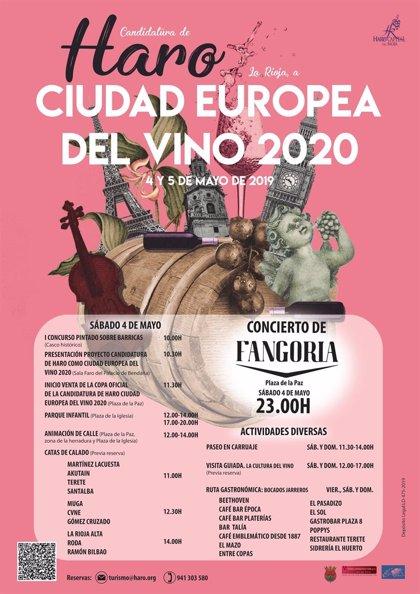 Todo listo para la presentación de la candidatura de Haro aCiudad Europea del Vino