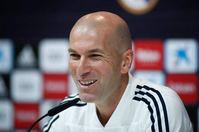 Rueda de prensa de Zinedine Zidane tras entrenar al Real Madrid