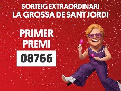 'La Grossa de Sant Jordi' premia con dos millones el número 08.766 de la serie 02