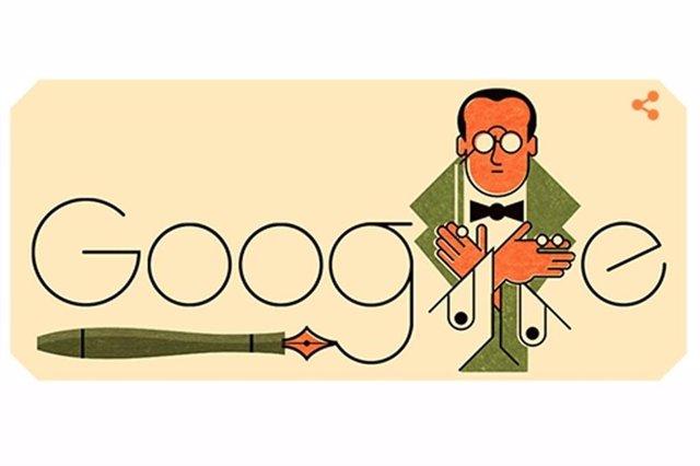 Google homenajea en su 'doodle' al escritor peruano Abraham Valdelomar en el 131 aniversario de su nacimiento