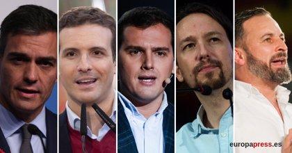 Casado y Abascal votarán en Madrid, Sánchez en Pozuelo, Iglesias en Galapagar y Rivera en Hospitalet