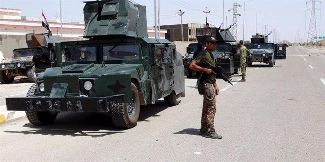 Patrulla del Ejército iraquí en Ramadi.