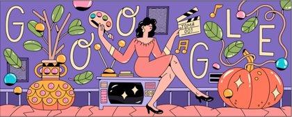 Google homenajea en su 'doodle' a la actriz mexicana Evangelina Elizondo por el 90 aniversario de su nacimiento