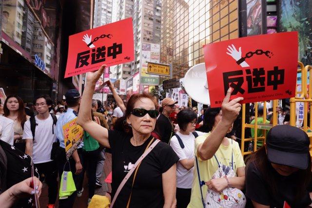 No extradition to mainland China demonstration in Hong Kong