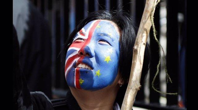 Manifestación contra el 'Brexit' en Londres
