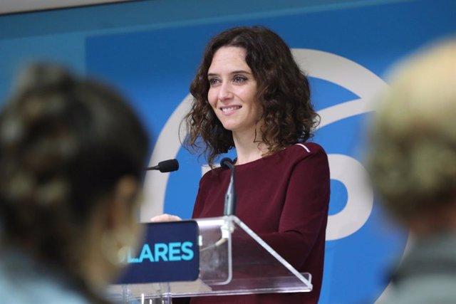 """Díaz Ayuso pide que se """"extreme la seguridad"""" en la manifestación independentista convocada en Madrid este sábado"""