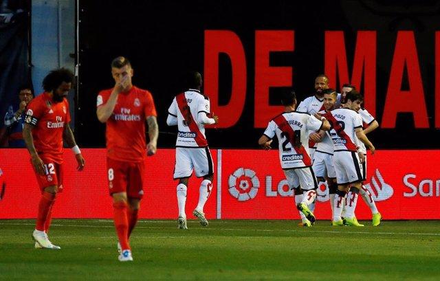 Fútbol/Liga Santander.- Crónica del Rayo Vallecano - Real Madrid, 1-0