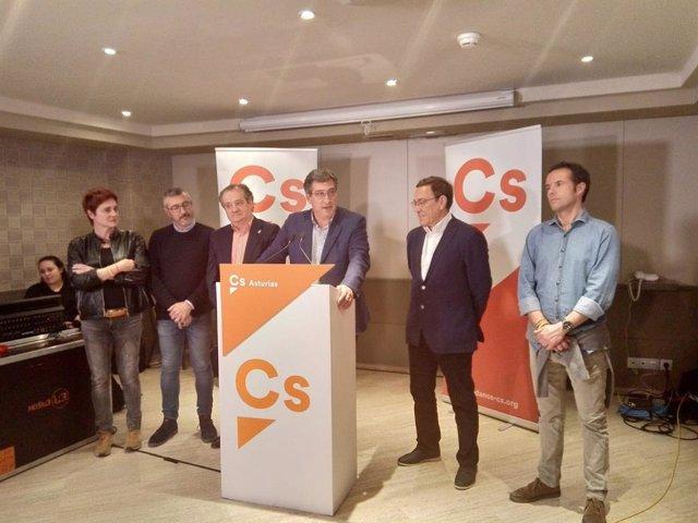 """28A.- Prendes (Cs) Habla De """"Magnífico Resultado"""" Y Garantiza Que Defenderá Los Valores Constitucionales Ante Sánchez"""