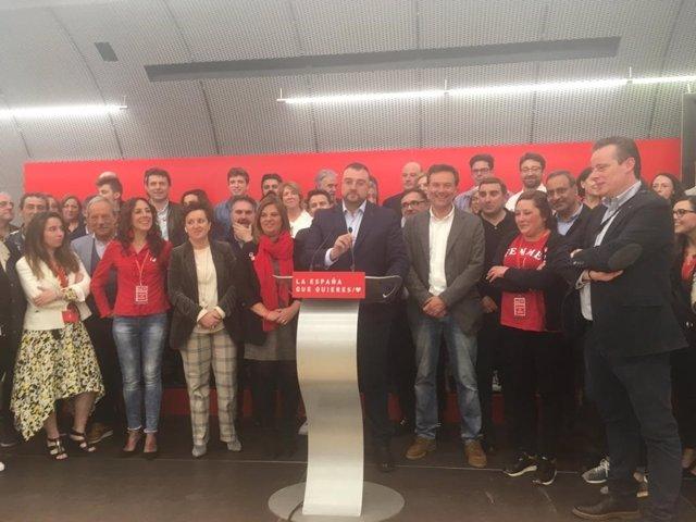 28A.- Barbón Celebra Que El PSOE Gané En Asturias 11 Años Después Y Anima A Mantener Esa Confianza El 26 De Mayo