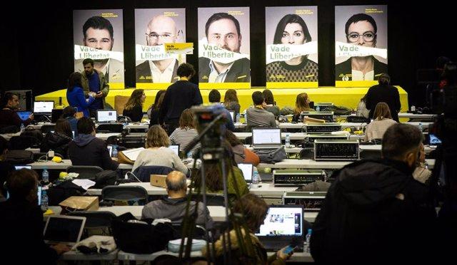 Noche Electoral De Esquerra Republicana De Catalunya