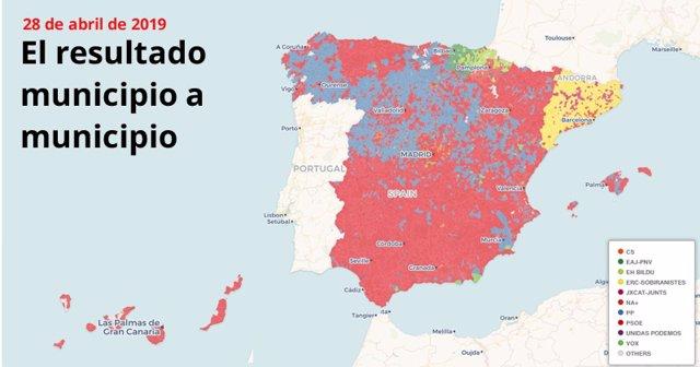 Resultados elecciones 2019, municipio a municipio