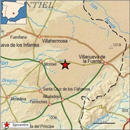 Sucesos.- Registrado un terremoto de 2,8 grados en Montiel (Ciudad Real)