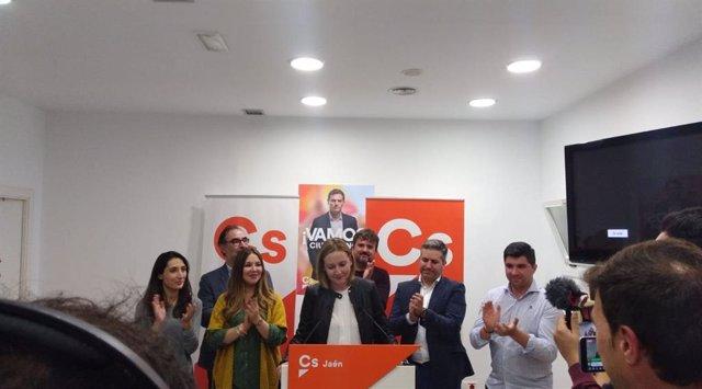 """Jaén.- 28A.- Ciudadanos (Cs) presume de """"hacer historia"""" al lograr un escaño y subir más de 10.000 votos respecto al 2D"""