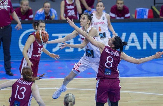 Alba Torrens en España - Letonia del Eurobasket 2017