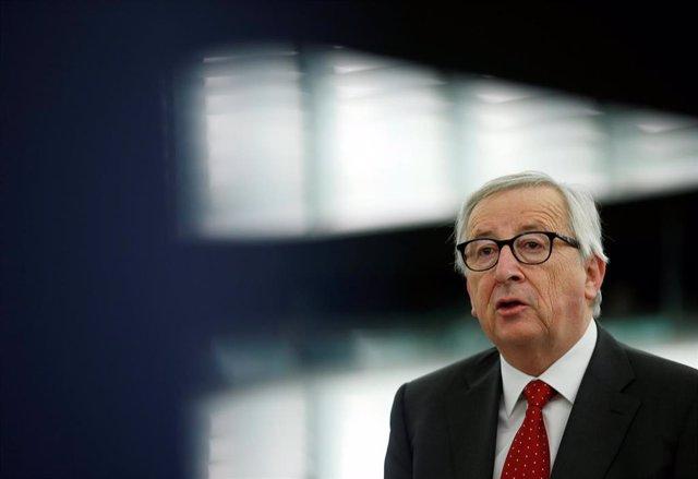 """VÍDEO: UE.- Juncker reconoce estar """"preocupado"""" por la posibilidad de que se produzca un Brexit sin acuerdo"""
