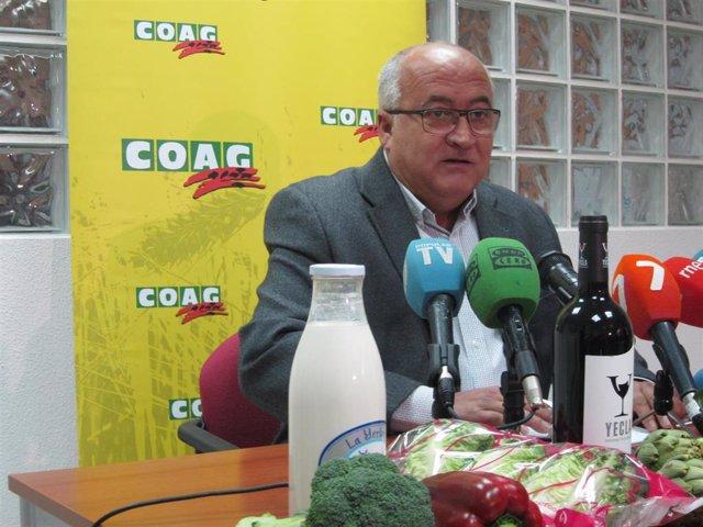 El presidente de COAG Murcia, Miguel Padilla, hace balance del año