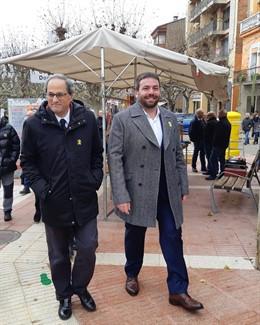 El presidente de la Generalitat, Quim Torra y el alcalde, Isaac Peraire