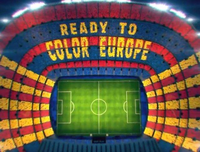 Fútbol/Liga Campeones.- El Camp Nou recibirá al Barça con el lema 'Ready to color Europe'