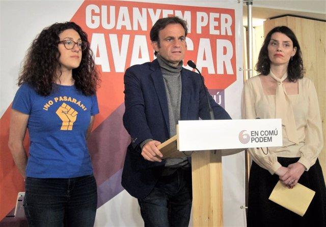 """Av.- 28A.- Asens (ECP) al PSOE: """"El temps dels governs monocolores s'ha superat"""""""
