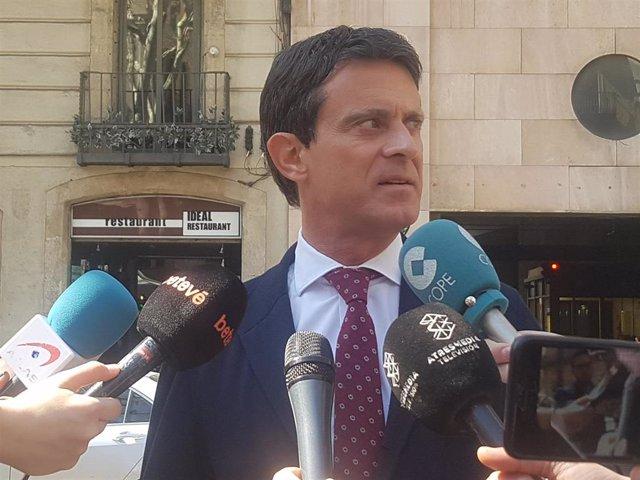 """Valls asegura que fue """"un error"""" de Rivera fotografiarse con Vox y que Cs debería combatirles """"en primera fila"""""""