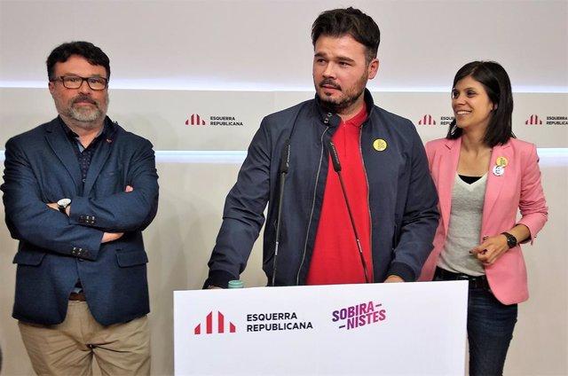 """Av.- 28A.- ERC insta el PSOE a moure's: """"La pilota est en la teulada de Sánchez"""""""