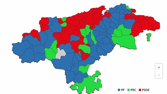 Partidos más votados por municipios