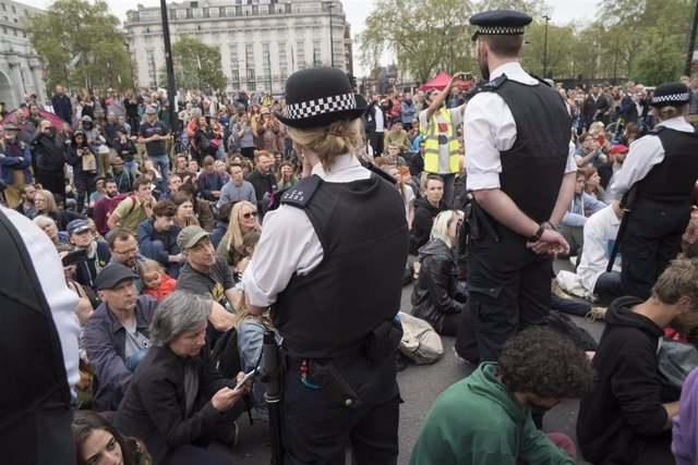 Extinction Rebellion protest against Climate Crisis