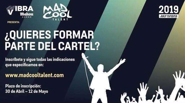 Mad Cool Festival abre la edición 2019 del Mad Cool Talent, su concurso de banda