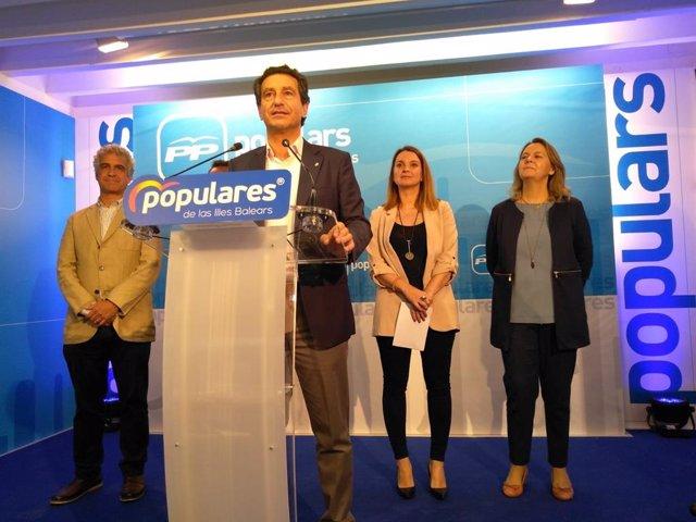 """28A.- Company felicita al PSOE per """"guanyar les eleccions"""" i atribueix la seva victòria a la fragmentació de la dreta"""