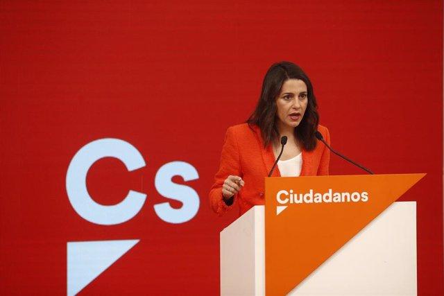 Rueda de prensa de Ciudadanos tras la Reunión del Comité Permanente del partido