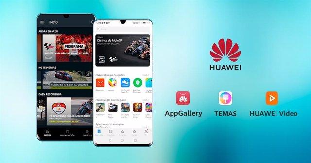 Varios.- Huawei ofrecerá deporte en directo a través de DAZN en sus dispositivos móviles