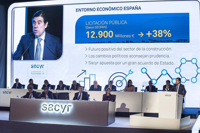 Economía/Empresas.- Sacyr sube un 25% la retribución a sus consejeros este año