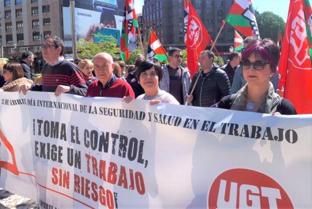Arza (UGT Euskadi) pide que se dé a los accidentes laborales la dimensión social de los de tráfico o violencia de género