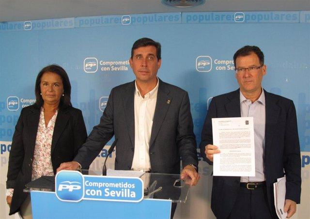 Dolores Rodríguez, Leocadio Ortega y Domingo Delgado