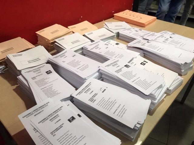 28A.- En Castilla-La Mancha, con el 90,60% escrutado, el PSOE sube a 9, el PP cae a 6, Cs entra con 4 y Vox con 2