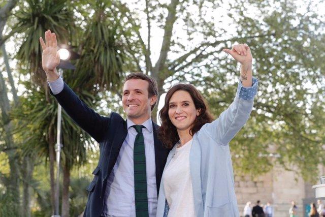 """28A.- Ayuso acusa a Sánchez de utilizar RTVE y de """"despreciar"""" al PP si no debate cara a cara con Casado"""