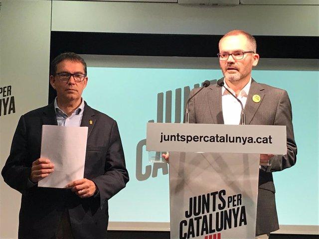"""Av.- 26M.- JxCat proposa Boye, Trias i Talegón com a recanvi """"provisional"""" en les europees"""