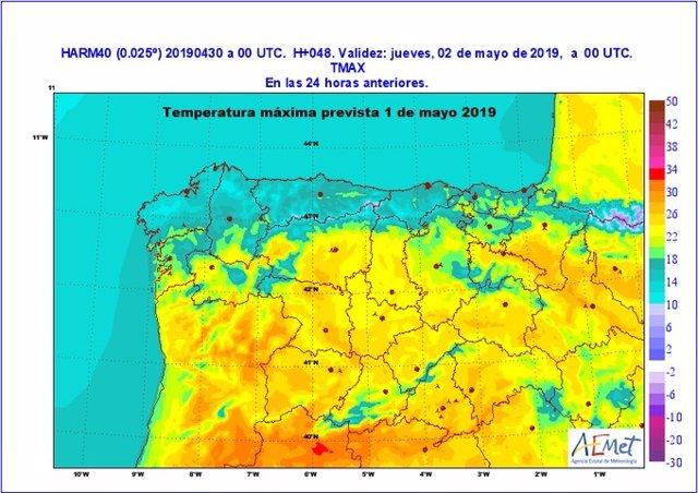 """La Aemet prevé un 1º de mayo con máximas """"notablemente altas"""" que rondarán entre los 23 y los 27º en CyL"""