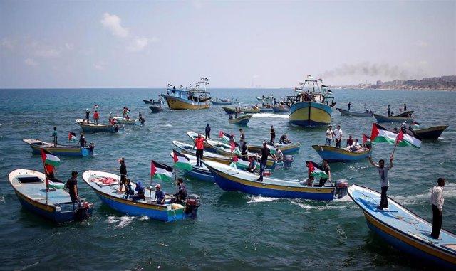 Un barco palestino intenta romper el bloqueo de Israel a la Franja de Gaza